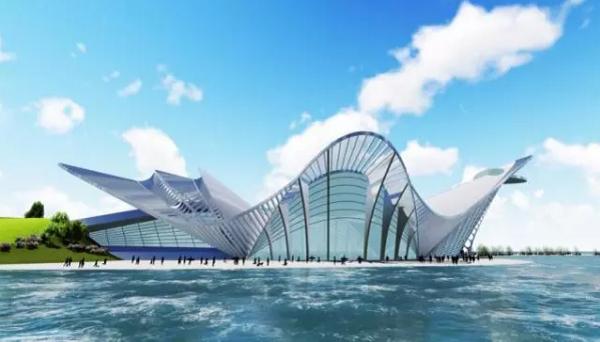 青岛凤凰之舟   青岛市西海岸新区入口处的第一名片